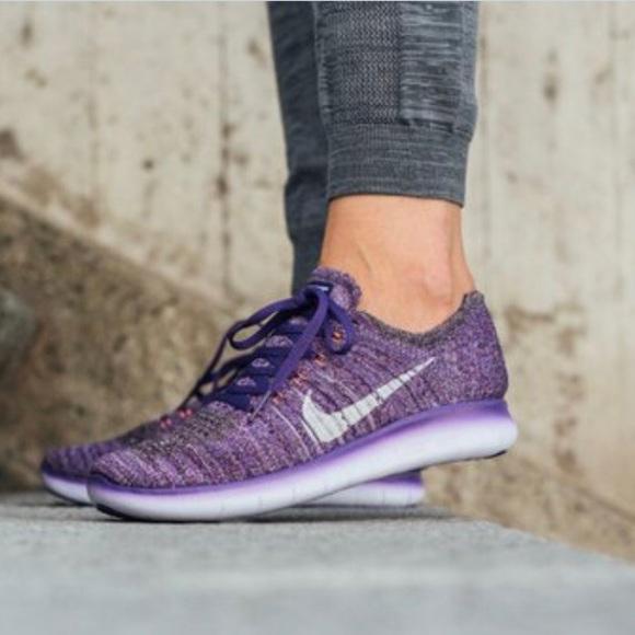 newest 3b5ed 89605 NWT Nike Free RN Flyknit in Purple NWT